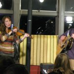Katie and Yaniv entertain at Mountain Grind, 12-21-2012