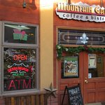 Front entrance to the taste treats and delicious drinks within at Mountain Grind