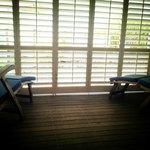 Boathouse balcony