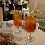 Refreshing pomegranate iced tea