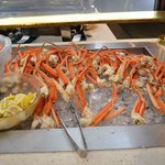 Yummy fresh snow crabs