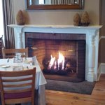 The fireplace at Elizabeth's