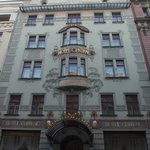 The lovely Art Nouveau exterior of the hotel