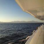 Dory on the way back to the marina/hotel