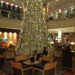 salão principal com motivos natalinos