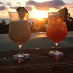 Sunset drinks