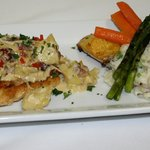 Chicken Escalopes With A Creamy Bacon, Sundried Tomato & Artichoke Sauce, Crushed Baby Potatoes