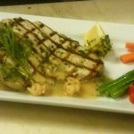 Grilled Swordfish, Thai Curry Rice Cake, Langostines In A Lemon Cream Lobster Jus