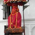 Statue of Hanuman, Durbar Square, Kathmandu, Nepal