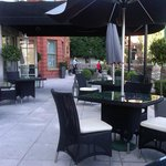 Front outside restaurant patio.