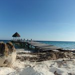 view from the cafe at puerto morelos
