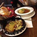 canederli in brodo e patate saltate