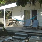 My deck with chairs & hammock