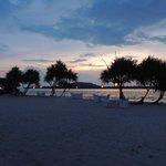 The Mahamaya beach area in the evening