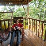 Balcony at Monkey Cabin
