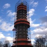 the Edison tower under reconstruction.