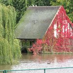 The dovecote - look for record on it of historic flood levels over years