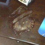 huge stain on desk