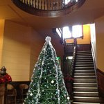 Christmas tree in the first floor rotunda of the Presidio County Courthouse in Marfa