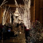 Christmas beauty in the main lobby Roosevelt Hotel