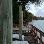 View down Muri Beach from Vara's deck.