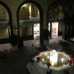 Main courtyard at night - beautiful!