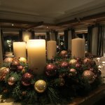 Advent wreath in diningroom