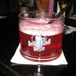 Berliner Kindl in the bar area - there were lots of flavoured syrups to choose from!