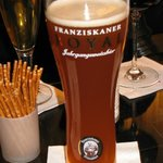 Franziskaner Royal beer in the bar area