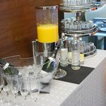 Champagne for the breakfast and fresh juice