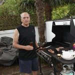 Willy doing the BBQ