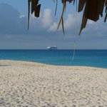 Cruise ship from the beach