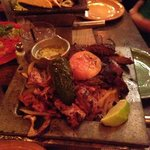 great fajitas pork and beef combo