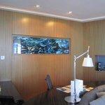 Club Suite 80 living room desk area