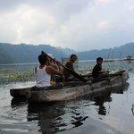 kanoeing at Tamblingan lake