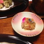 japanese preserved vegetables with fish