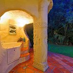The Outdoor Spa in the Carved Grotto at Earth Lodge