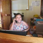 Yvette (Iveth) at your service, delightful receptionist!