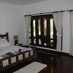 Our room with screened windows (wide open space)