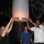 Lanna lantern festival at Baan Nam Ping