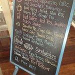 menu at the front door