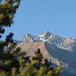 vue de la sur de la VANOISE, le sommet :dent Parrachée 3697 M,