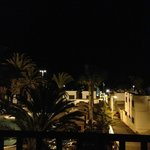 Nighttime on Balcony. Close to the strip but quiet & peaceful!