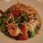 Special of Shrimp with Asparagus Over Linguine