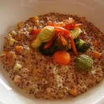 Quinoa risotto for lunch - delicious!