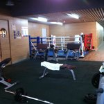 Fitness Center Weight area & boxing ring