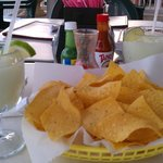 Frozen Margaritas and chips