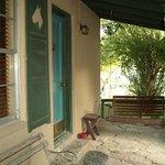 Stirrup cabin porch