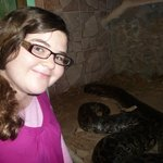 Casey and Alisa the big python