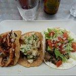 tacos porc, poulet, bœuf